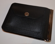 фото 1572  Зажим для денег с кармашеком для мелочи натуральная кожа №4 цена, отзывы