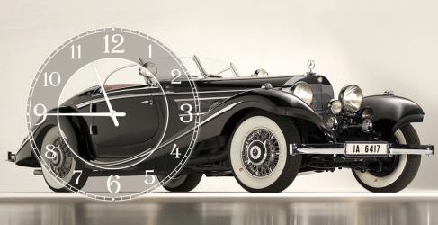 купить Часы на холсте Ретро 25х50 цена, отзывы