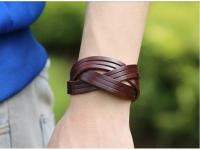 фото 9429  Антический кожаный браслет Benedict цена, отзывы