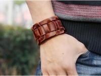 фото 9395  Антический кожаный браслет Atwater цена, отзывы
