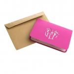 фото 9632  Объемная открытка Подарок фиолет цена, отзывы