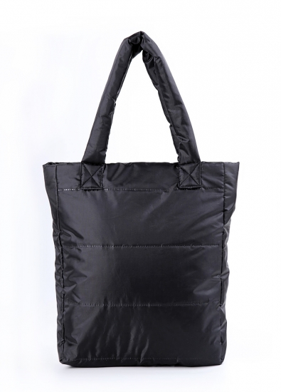 купить Болоньевая сумка на синтепоне черная Black цена, отзывы