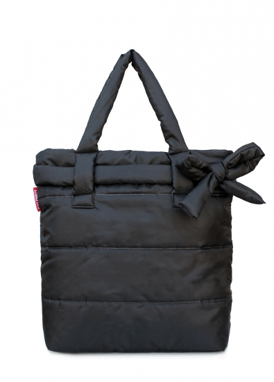 купить Болоньевая сумка на синтепоне черная Bow цена, отзывы