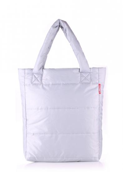 купить Болоньевая сумка на синтепоне черная Grey цена, отзывы