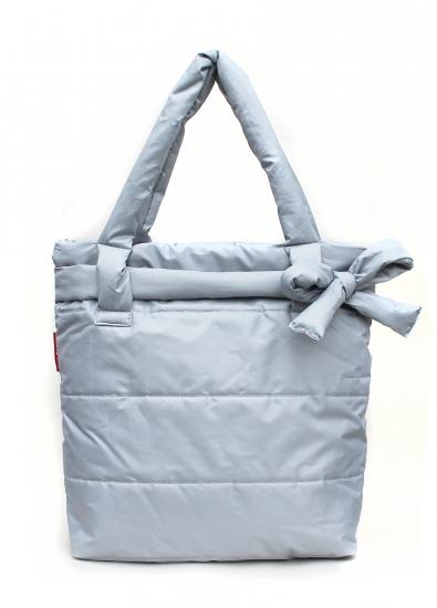 купить Болоньевая сумка на синтепоне серая Bow цена, отзывы