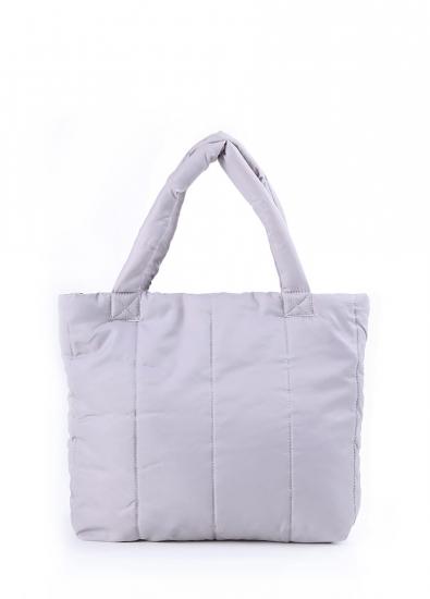 купить Болоньевая сумка на синтепоне серая Pool цена, отзывы