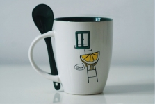 купить Чашка+ложка Lemon цена, отзывы