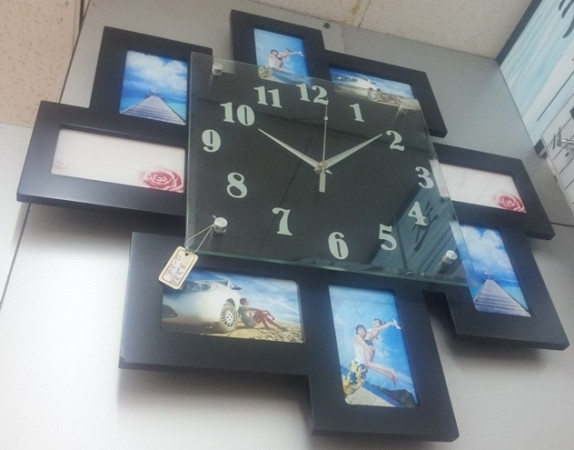 купить Часы с фоторамками Зигзаг цена, отзывы