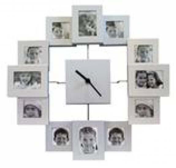купить Часы с фоторамками металлические цена, отзывы