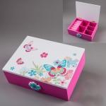 купить Деревянная шкатулка Бабочки 18х14х6см цена, отзывы