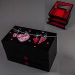 купить Деревянная шкатулка Ночные Сердца 20х11х12см цена, отзывы