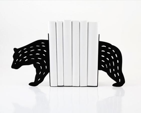 купить Держатель для книг Медведь черный цена, отзывы