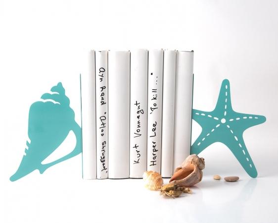 купить Держатель для книг Морская ракушка и звезда цена, отзывы