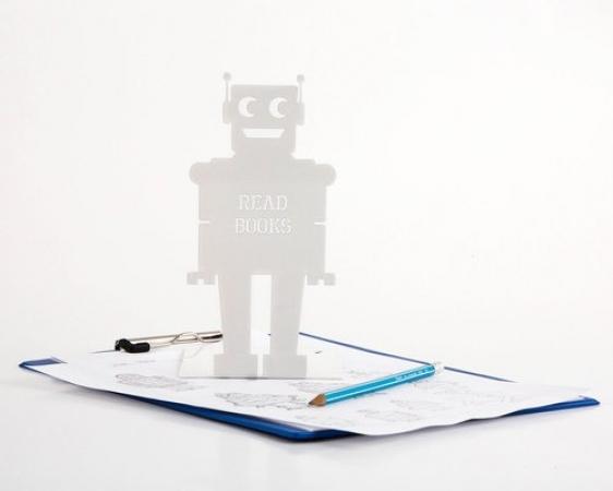 купить Держатель для книг Робот белый цена, отзывы