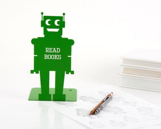 купить Держатель для книг Робот салатовый цена, отзывы