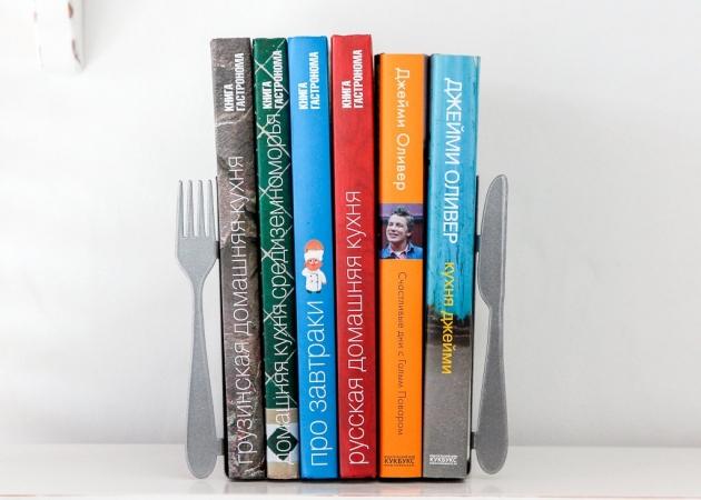 купить Держатель для книг Вилка и ложка цена, отзывы