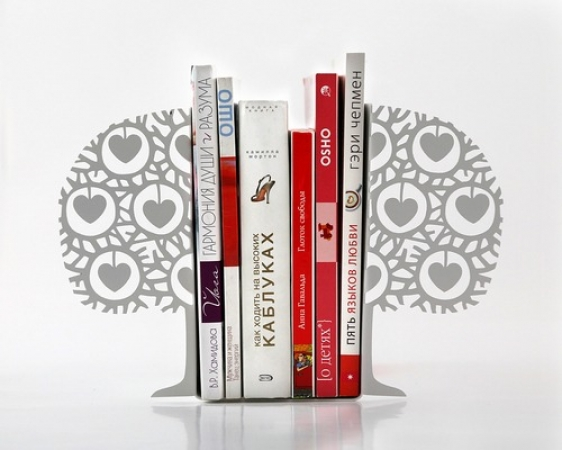 купить Держатель для книг Влюбленное дерево белый цвет цена, отзывы