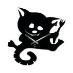 купить Детские настенные часы Cat with a Fork цена, отзывы
