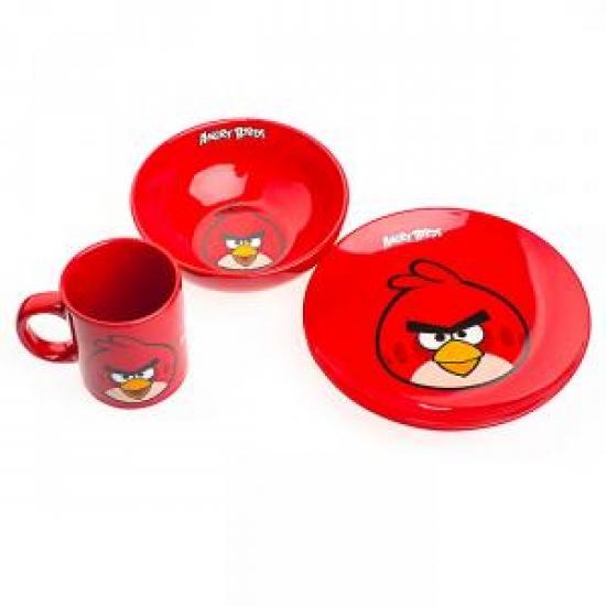 купить Детский набор посуды Angry Birds красный цена, отзывы
