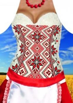 купить Фартук прикольный женский Украинки цена, отзывы