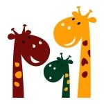 купить Интерьерная Наклейка Cute Giraffes цена, отзывы