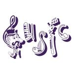 купить Интерьерная Наклейка Music цена, отзывы