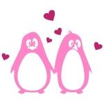 купить Интерьерная Наклейка Penguins in Love цена, отзывы