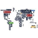 купить Интерьерная Наклейка World Map цена, отзывы
