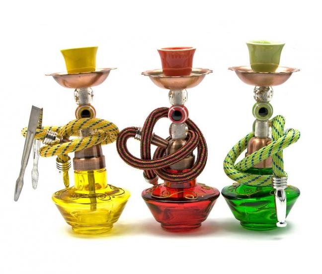 купить Кальян (на 1 персону)(15Х6,5Х6,5 см.) желтый, красный, зеленый цена, отзывы