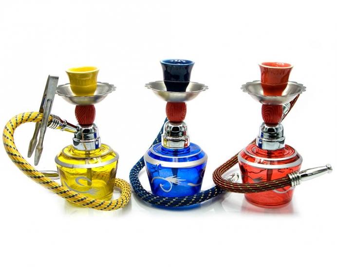 купить Кальян (на 1 персону)(15Х6,5Х6,5 см.) желтый, синий, красный цена, отзывы