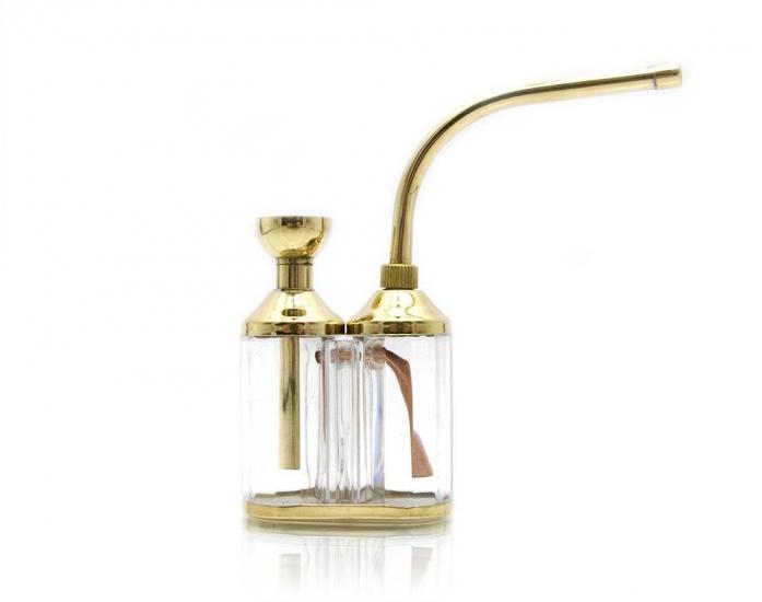 купить Кальян мини  (водяной фильтр для сигарет)11Х12Х3 см бронза, скло цена, отзывы
