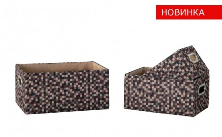 купить Короб Коричневые клеточки FBB02-L цена, отзывы