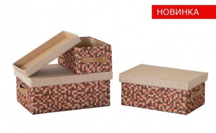 купить Короб с крышкой Рыжие клеточки FBC03-М цена, отзывы