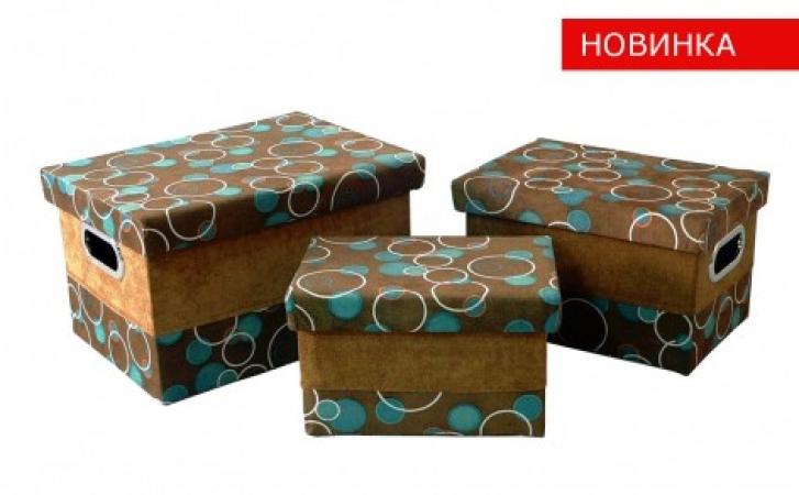 купить Короб с крышкой Шоколад и бирюза FBB01-М цена, отзывы