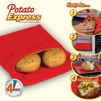 купить Мешочек для запекания картофеля в микроволновой печи Potato Express цена, отзывы