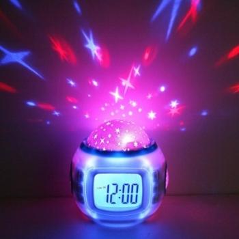 купить Музыкальные часы с проектором звездного неба цена, отзывы