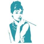 купить Наклейка Декоративная Audrey Hepburn цена, отзывы