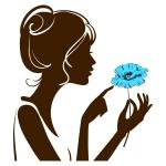 купить Наклейка Декоративная Girl with Flower цена, отзывы