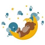 купить Наклейка Детская Sleeping Bear цена, отзывы