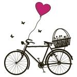 купить Наклейка Интерьерная Bicycle цена, отзывы