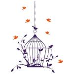 купить Наклейка Интерьерная Birdcage цена, отзывы