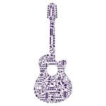 купить Наклейка Интерьерная Guitar цена, отзывы