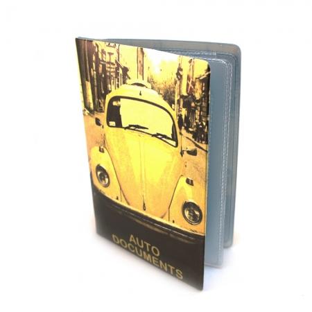 купить Обложка для автодокументов Желтый жук цена, отзывы