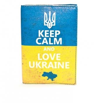 купить Обложка на паспорт Keep Calm And Love Ukraine цена, отзывы