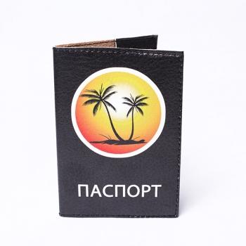 купить Обложка на паспорт Пальмы цена, отзывы