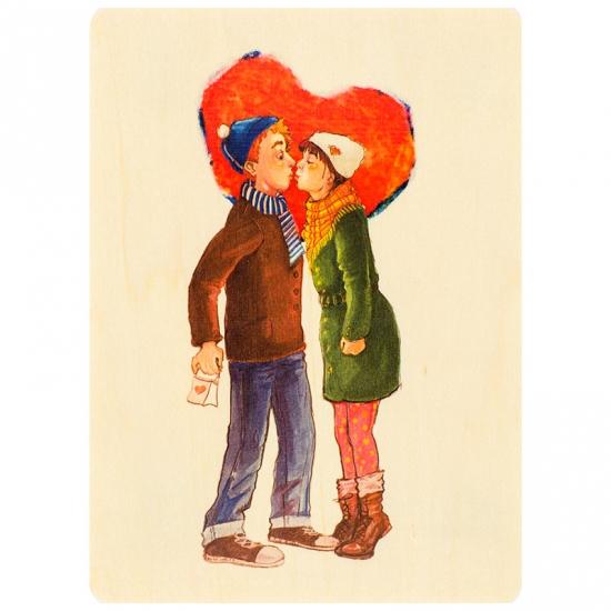 купить Открытка из дерева История любви цена, отзывы