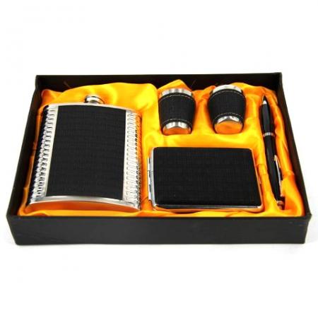 купить Подарочный набор Фляга черная цена, отзывы