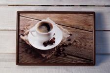 купить Поднос с подушкой Кофе  цена, отзывы