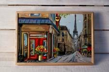 купить Поднос с подушкой Париж  цена, отзывы