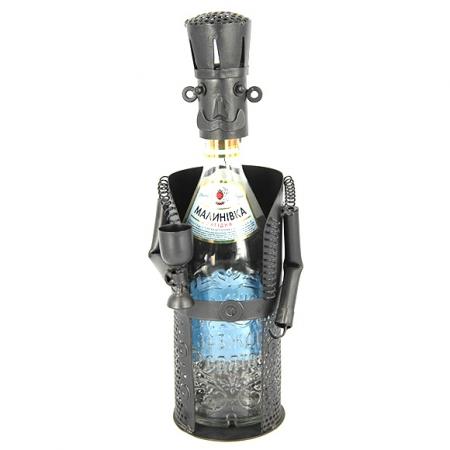 купить Подставка под бутылку сомелье с бокалом цена, отзывы